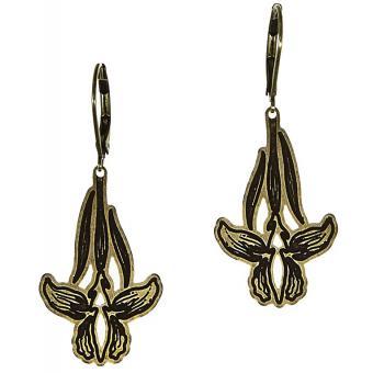 Boucles d'oreilles Pendantes Vieux Bronze - Amélie Blaise - Amélie Blaise