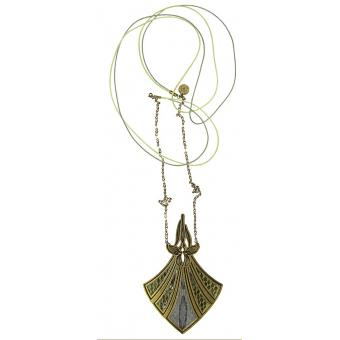 Collier et pendentif Long Serpent Bronze - Amélie Blaise - Amélie Blaise