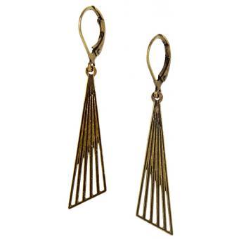 Boucles d'oreilles Pendantes Géométriques Bronze - Amélie Blaise - Amélie Blaise