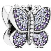 Charms Pandora Papillon Strass Argent 791257ACZ - Nature