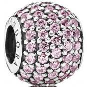 Charms Pandora Boule Strass Rose 791051PCZ