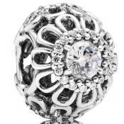 Charms Pandora Acier Argent Strass 791260CZ
