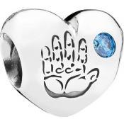 Charms Pandora Coeur Métal Argenté 791281CZB