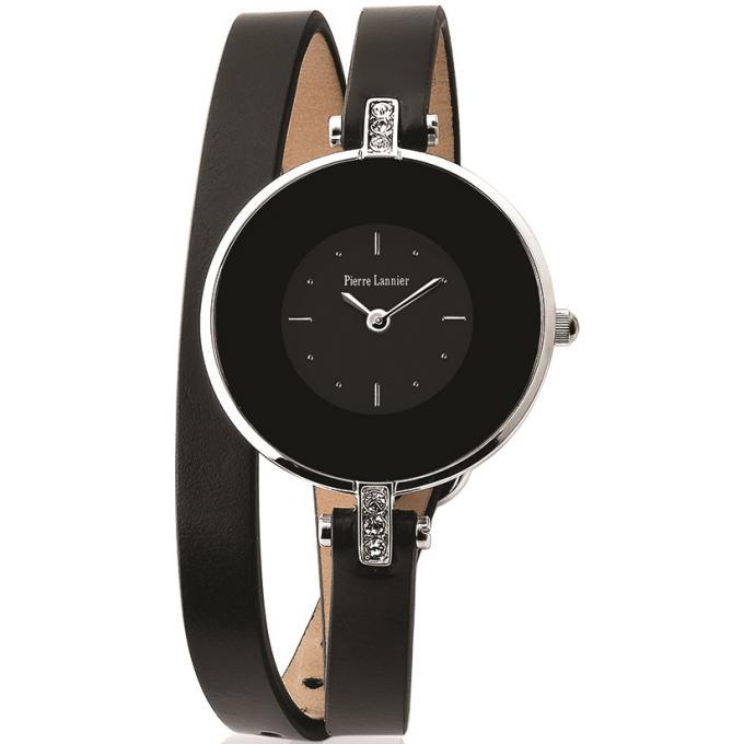 montre pierre lannier 121h633 montre double bracelet noire femme sur bijourama montre femme. Black Bedroom Furniture Sets. Home Design Ideas