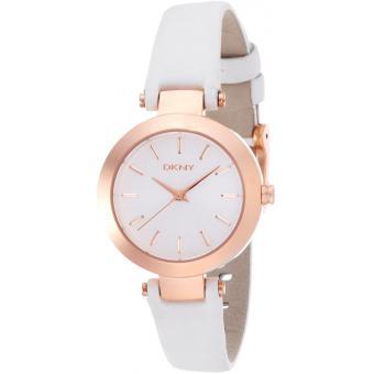 Montre DKNY Stanhope NY8835 - Montre Blanche Classique Rosée Femme