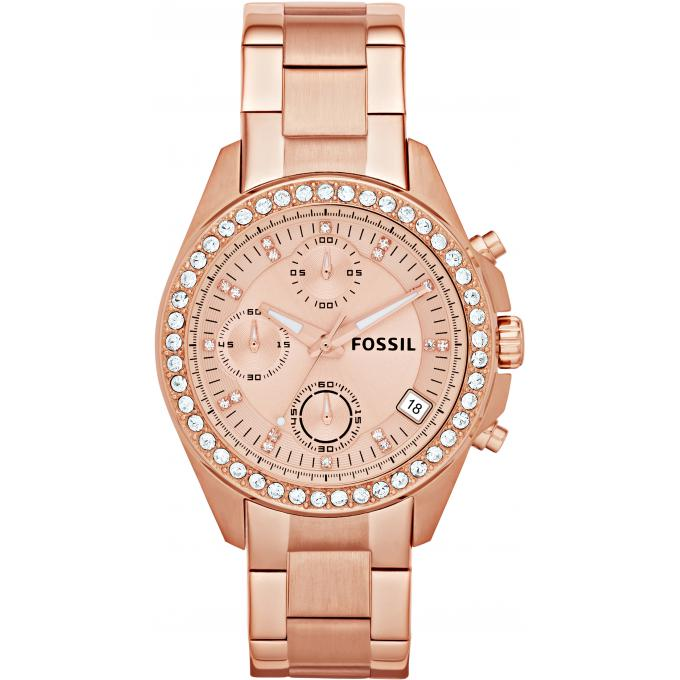 montre fossil decker es3352 montre ros e cristaux scintillante femme sur bijourama montre. Black Bedroom Furniture Sets. Home Design Ideas