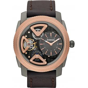 Montre Fossil Mechanical Twist ME1122 - Montre Cuir Design Noire Homme