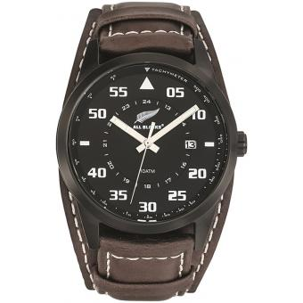 Montre All Blacks 680160 - Montre Cuir Marron Noire Homme