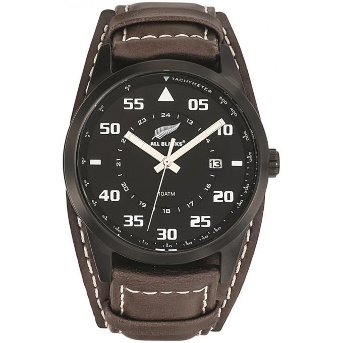 montre all blacks 680160 montre cuir marron noire homme sur bijourama montre homme pas cher. Black Bedroom Furniture Sets. Home Design Ideas