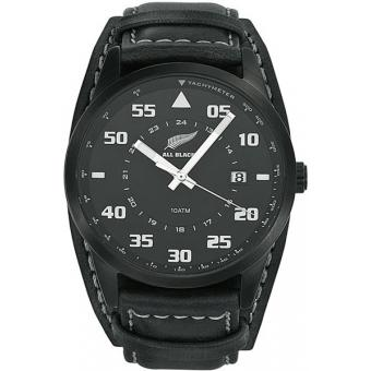 Montre All Blacks 680161 - Montre Cuir Noire Homme