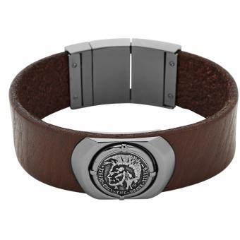 Bracelet Diesel DX0798060 - Bracelet Cuir Marron Homme