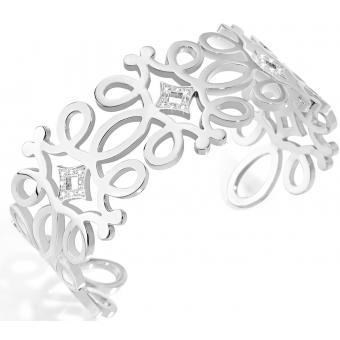 Bracelet Morellato SAAJ21 - Bracelet Manchette Arabesque argent Femme - Morellato