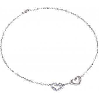 Collier et pendentif Morellato SABG01 - Collier et pendentif Cœur cristaux argent Femme - Morellato