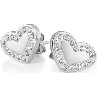 Boucles d'oreilles Morellato SABG07 - Boucles d'oreilles Puce coeur argent - Morellato