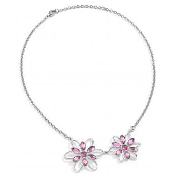 Collier et pendentif Morellato SABK06 - Collier et pendentif Fleurs Cristal rose Femme - Morellato