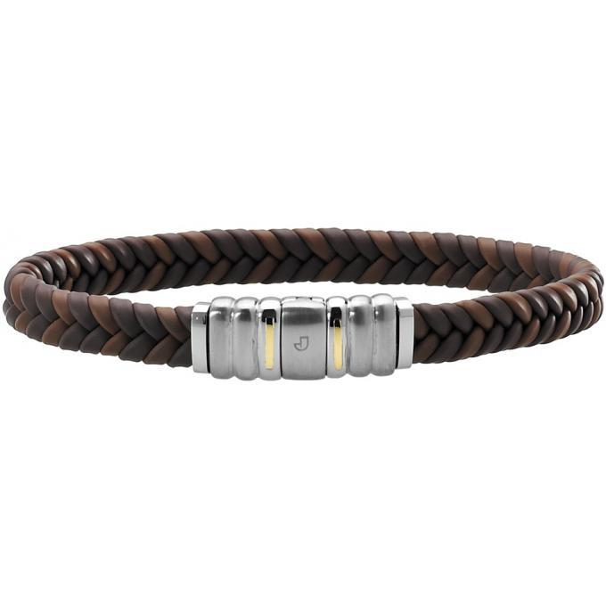 bracelet jourdan fz 138 mah bracelet tress marron argent homme sur bijourama votre. Black Bedroom Furniture Sets. Home Design Ideas