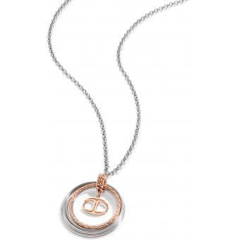 Collier et pendentif Circulaire Rose Argent - Just Cavalli - Just Cavalli Bijoux