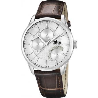 Montre Lotus L15974-1 - Montre Cuir Croco Marron Homme