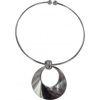 Collier et pendentif Ubu 70.23-59-MA - Collier et pendentif Ethnique Cercle Argent Femme - Ubu