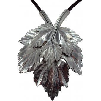 Collier et pendentif Ubu 95-26-MA-CCH - Collier et pendentif Feuilles Argent Femme - Ubu