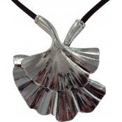 Collier et pendentif Ubu Cordon Marron Coquillage 95-04-MA-CCH
