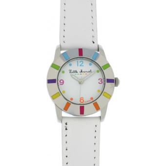 Montre Little Marcel LM03WTC - Montre Cuir Blanche Multicolore
