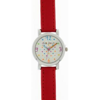 Montre Little Marcel LM05RDC2 - Montre Cuir Rouge Multicolore