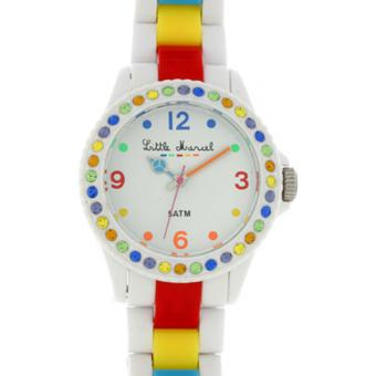 Montre Little Marcel LM10SWTR - Montre Blanche Multicolore Femme