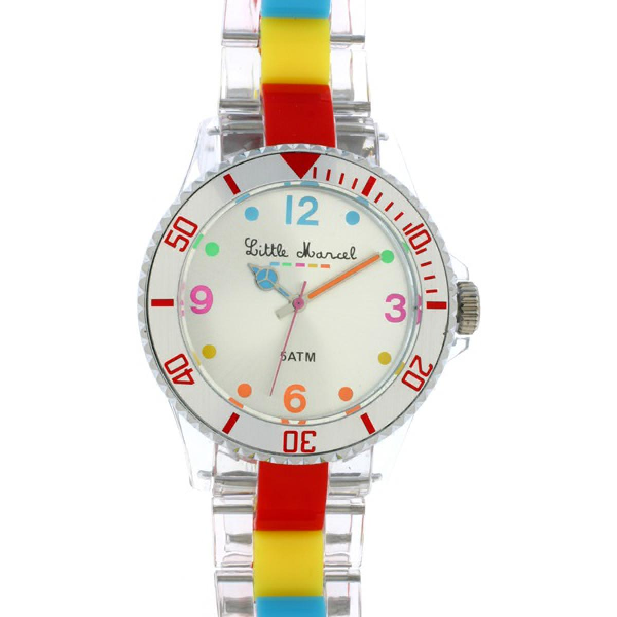 Montre Little Marcel LM10TRR - Montre Multicolore Transparente Femme