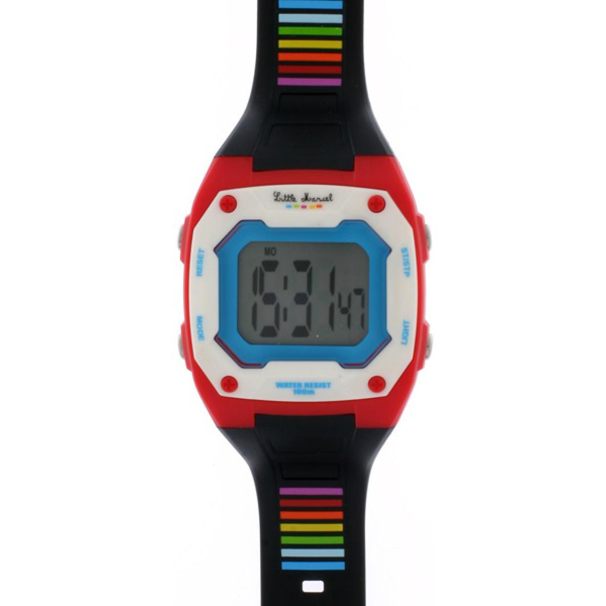 Montre Little Marcel LM17RDPU - Montre Chrono Multicolore