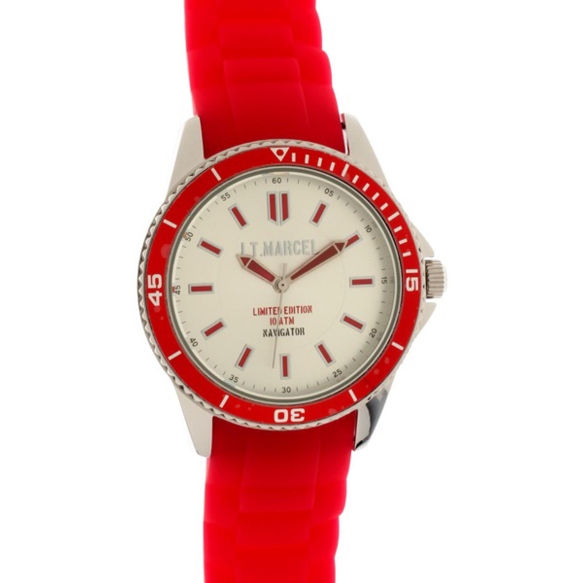 Montre Little Marcel LM20RDSN - Montre Rouge Blanche Femme