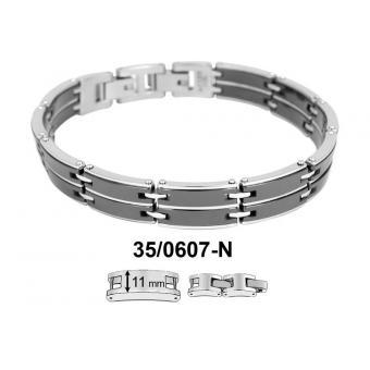 Bracelet Phebus Creations 35-0607-N - Bracelet Céramique Acier Homme