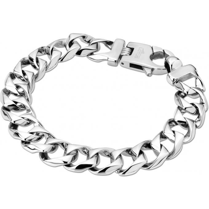 Bracelet Lotus Style LS1569-2-1 - Bracelet Chaîne Acier Homme sur ... a6efb6bc0ef9