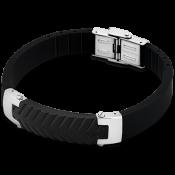 Bracelet Lotus Style Bijoux Tendance Acier Noir LS1562-2-3