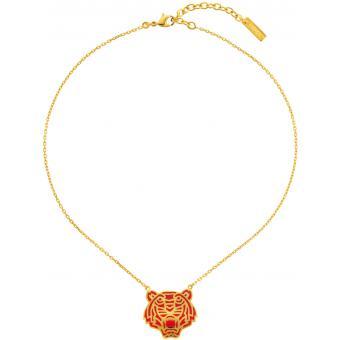 Collier et pendentif Kenzo 70202730101043 - Collier et pendentif Tigre Rouge Doré Femme Tigre Rouge Doré - Kenzo - Kenzo