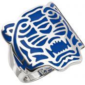 Bague Kenzo Bijoux Bleue Fashion Argenté 70202721102