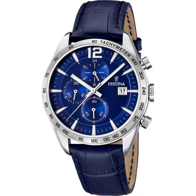 montre festina f16760 3 montre cuir bleue homme sur bijourama montre homme pas cher en ligne. Black Bedroom Furniture Sets. Home Design Ideas
