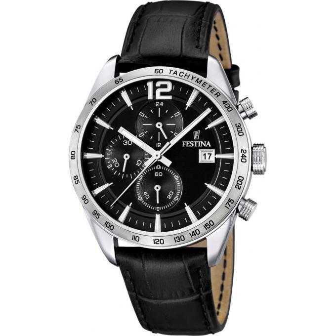 montre festina f16760 4 montre cuir noire homme sur bijourama montre homme pas cher en ligne. Black Bedroom Furniture Sets. Home Design Ideas