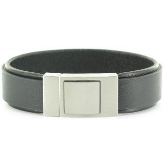 Bracelet Stahl Design 03595 5 - Bracelet Rigide Noir Original Homme
