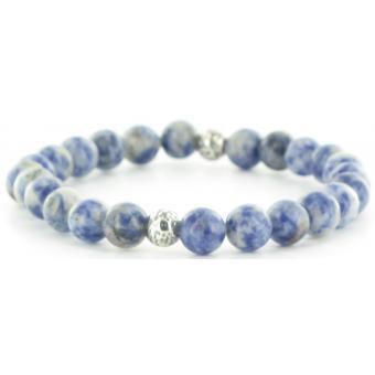 Bracelet Stahl Design 03819 4 - Bracelet Onyx Argent Homme