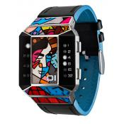 The One - Montre The One Art Edition SC124W1 - Montre Femme - Affichage Binaire