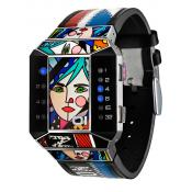The One - Montre The One Art Edition SC122B1 - Montre Femme - Affichage Binaire