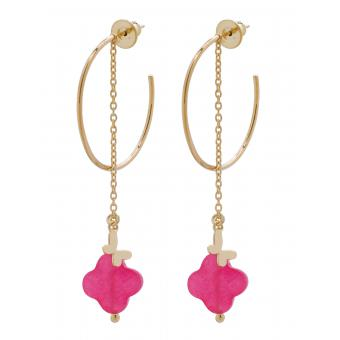 Boucles d'oreilles Jade Rose Or - Sweet Stones Reminiscence - Reminiscence