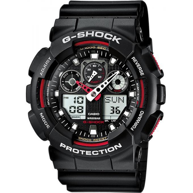 Montre Casio Résine G Shock GA 100 1A4ER Homme sur  TLUO3