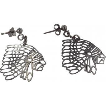 Boucles d'oreilles Argent Indiens Originales - L By L'Avare - L by L'Avare
