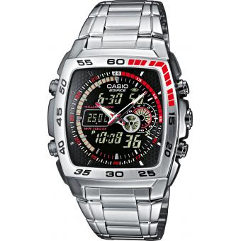Montre Casio  Edifice, Montre Chrono Digitale - Homme EFA-122D-1AVEF