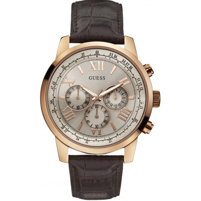Montre Guess W0380G4 - Montre Cuir Or Rose Homme