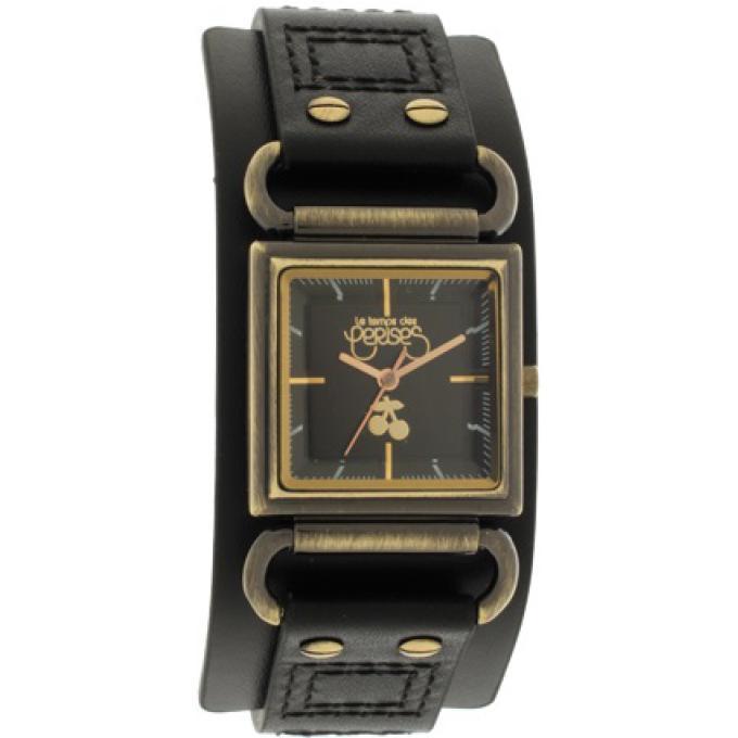 montre le temps des cerises tc95bkc montre manchette cuir noir femme sur bijourama montre. Black Bedroom Furniture Sets. Home Design Ideas
