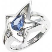 Bague Thierry Mugler Bijoux Acier Bleue Brillante T21037ZS