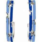 Boucles d'oreilles Thierry Mugler Bijoux Flashy Acier Bleues T31251SB